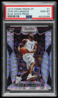 Zion Williamson 2019-20 Panini Prizm Draft Picks Prizms Blue Wave #1 (PSA 10) at PristineAuction.com