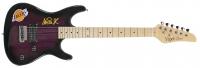 Magic Johnson Signed Lakers Logo Electric Guitar (Beckett COA) at PristineAuction.com