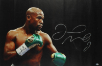 Floyd Mayweather Signed 27x43 Print On Canvas Display (Beckett Hologram) at PristineAuction.com