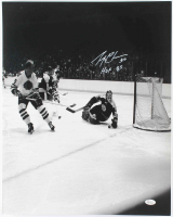 """Gerry Cheevers Signed Boston Bruins 16x20 Photo Inscribed """"HOF 85"""" (JSA COA) at PristineAuction.com"""