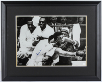 Muhammad Ali Signed 29x23 Custom Framed Photo Display (Online Authentics COA) at PristineAuction.com