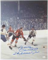 "Bobby Hull Signed Blackhawks 16x20 Photo Inscribed ""The Golden Jet"" (JSA COA) at PristineAuction.com"