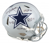 Tony Dorsett Signed Cowboys Full-Size Authentic On-Field Speed Helmet with (4) Career Stat Inscriptions (Beckett COA) at PristineAuction.com