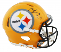 Chase Claypool Signed Steelers Full-Size Authentic On-Field Throwback Speed Helmet (Beckett COA) at PristineAuction.com