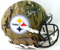 Ben Roethlisberger Signed Steelers Authentic On-Field Full-Size Camo Alternate Speed Helmet (Fanatics Hologram) at PristineAuction.com