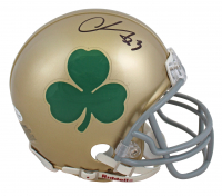 Chase Claypool Signed Notre Dame Fighting Irish Mini-Helmet (Beckett COA) at PristineAuction.com