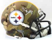 Ben Roethlisberger Signed Steelers Camo Alternate Speed Mini Helmet (Fanatics Hologram) at PristineAuction.com