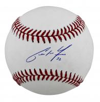Christian Yelich Signed OML Baseball (MLB Hologram) at PristineAuction.com
