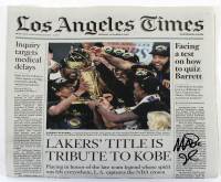 """Magic Johnson Signed 2020 Los Angeles Times """"Tribute to Kobe"""" Newspaper (Beckett COA) at PristineAuction.com"""