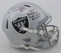 "Darren Waller Signed Raiders Full-Size Speed Helmet Inscribed ""107 Receptions Single Season Record"" (Beckett COA) at PristineAuction.com"