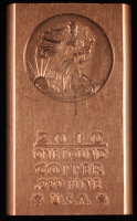 2011 Walking Liberty One Kilo .999 Fine Copper Bullion Bar at PristineAuction.com