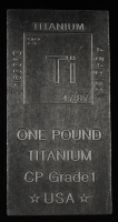 One Pound .999 Fine Titanium Bullion Bar at PristineAuction.com