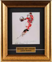 "LeRoy Neiman ""Michael 'Air' Jordan"" 10.5x12.5 Custom Framed Print Display at PristineAuction.com"