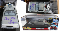 "Christopher Lloyd Signed ""Back to the Future II"" DeLorean Time Machine 1:24 Scale Die-Cast Car (JSA COA) at PristineAuction.com"