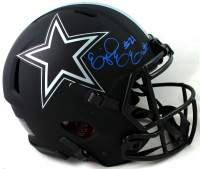 Ezekiel Elliott Signed Cowboys Full-Size Authentic On-Field Eclipse Alternate Speed Helmet (Beckett COA) at PristineAuction.com