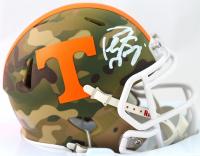 Peyton Manning Signed Tennessee Volunteers Camo Alternate Speed Mini Helmet (Fanatics Hologram) at PristineAuction.com
