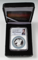 2016 Saint-Gaudens Commemorative National Park Foundation 1 oz. .999 Fine Silver High Relief Coin With Display Case - John Mercanti Signed Label (NGC PF70 Ultra Cameo) at PristineAuction.com