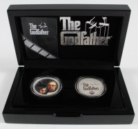 "Set of (2) 2015 Niue ""Godfather"" 1 Troy Ounce 3999 Fine Silver $2 Two Dollar Coins woth Display Case at PristineAuction.com"