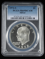 1972-S Eisenhower Dollar (PCGS PR69DCAM) at PristineAuction.com