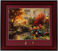 "Thomas Kinkade ""Mickey & Minnie Mouse"" 14x16 Custom Framed Print Display with Mickey & Minnie Pins at PristineAuction.com"