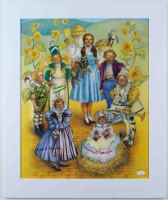 """""""The Wizard Of Oz"""" 20x24 Custom Matted Photo Display Cast-Signed by (6) with Jerry Maren, Mickey Carroll, Karl Slover, Meinhardt Raabe, Clarence Swensen, Ruth Duccini (JSA COA) at PristineAuction.com"""