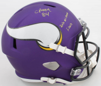 "Cordarrelle Patterson Signed Vikings Full-Size Speed Helmet Inscribed ""2010 All Decade"" & ""Flash"" (Beckett COA) at PristineAuction.com"