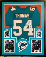 Zach Thomas Signed 34x42 Custom Framed Jersey (JSA COA) at PristineAuction.com