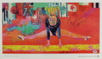 Chellsie Memmel Signed 14x22.5 LeRoy Neiman Print Display (PSA Hologram) at PristineAuction.com
