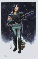"Tom Hodges - Cara Dune & Grogu ""Star Wars"" - Signed 11x17 LE Print LE #/25 (PA COA) at PristineAuction.com"
