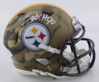 T.J. Watt Signed Steelers Camo Alternate Speed Mini Helmet (Beckett COA) at PristineAuction.com