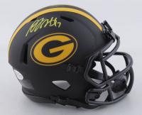 Davante Adams Signed Packers Eclipse Alternate Speed Mini-Helmet (Beckett COA) at PristineAuction.com