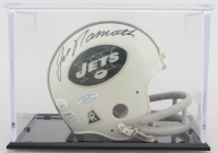 Joe Namath Signed Jets Mini Helmet with Display Case (JSA COA) at PristineAuction.com