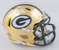 Davante Adams Signed Packers Chrome Alternate Speed Mini-Helmet (Beckett COA) at PristineAuction.com