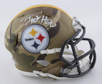 T.J. Watt Signed Steelers Camo Alternate Speed Mini Helmet (Beckett COA) at PristineAuction.com