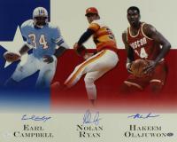 Earl Campbell, Nolan Ryan & Hakeem Olajuwon Signed Houston Legends 16x20 Photo (JSA COA & Ryan Hologram) at PristineAuction.com