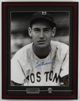 Ted Williams Signed Red Sox 19x24 Custom Framed Photo Display with Red Sox Pin (PSA LOA & Williams Hologram) at PristineAuction.com