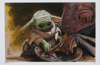 "Tom Hodges - Grogu Learning ""Star Wars"" - Signed 11x17 LE Print LE #/25 (PA COA) at PristineAuction.com"