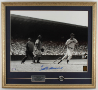 Ted Williams Signed Red Sox 21x23 Custom Framed Photo Display with Red Sox Pin (PSA LOA & Williams Hologram) at PristineAuction.com