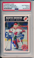 Martin Brodeur Signed 1992 Score #480 (PSA Encapsulated) at PristineAuction.com