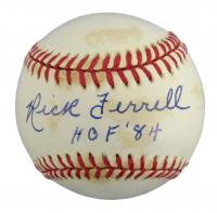 "Rick Ferrell Signed OAL Baseball Inscribed ""HOF '84"" (PSA COA) at PristineAuction.com"