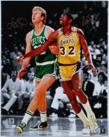 Magic Johnson & Larry Bird Signed 16x20 Photo (Schwartz Sports COA & Bird Hologram) at PristineAuction.com