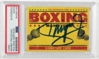 Manny Pacquiao Signed Main Event Signature Series Boxing Card (PSA Encapsulated) at PristineAuction.com