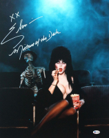 "Cassandra Peterson Signed ""Elvira"" 16x20 Photo Incribed ""XX"" and ""Mistress of the Dark"" (Beckett COA) at PristineAuction.com"