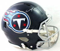 A.J. Brown Signed Titans Full-Size Authentic On-Field Speed Helmet (Beckett COA) at PristineAuction.com