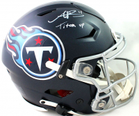 """AJ Brown Signed Titans Full-Size Authentic On-Field SpeedFlex Helmet Inscribed """"Titan Up"""" (Beckett COA) at PristineAuction.com"""