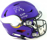 "Justin Jefferson Signed Vikings Full-Size Authentic On-Field SpeedFlex Helmet Inscribed ""Skol Vikings"" (Beckett COA) at PristineAuction.com"