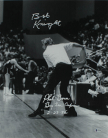 "Bobby Knight & Phil Bova Signed 16x20 Photo Inscribed ""Big Ten Conference 2.23.85"" (Beckett COA) at PristineAuction.com"