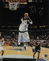 Kevin Garnett Signed Timberwolves 16x20 Photo (Beckett COA) at PristineAuction.com
