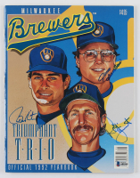 Paul Molitor, Robin Yount & Jim Gantner Signed Brewers Official 1992 Yearbook Program (Beckett LOA) at PristineAuction.com