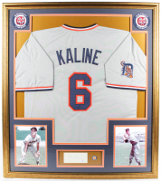 Al Kaline Signed Signed 32.5x36.5 Custom Framed Cut Display with Jersey, (2) Tigers Patches & Lapel Pin (PSA COA) at PristineAuction.com